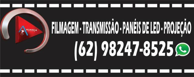 Filmagem - transmissão ao vivo - painel de led