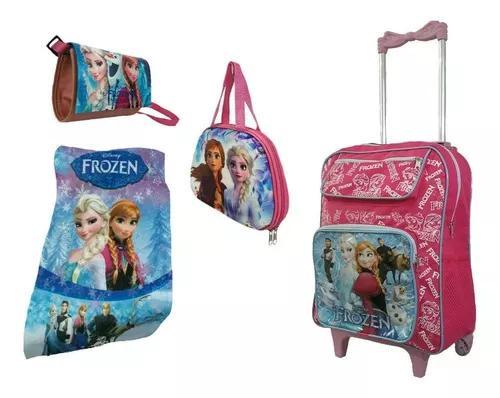 Mala mochila bolsa frozen escolar para criança f
