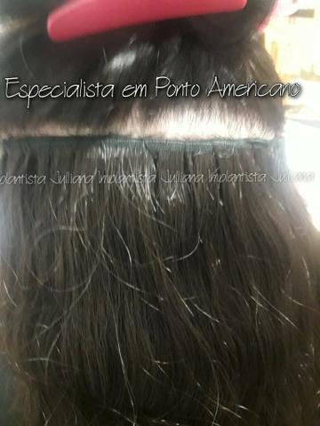 Mega hair com acabamento perfeito! implantista à