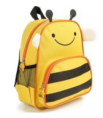 Mochila infantil abelhinha mochila criança abelha amarela