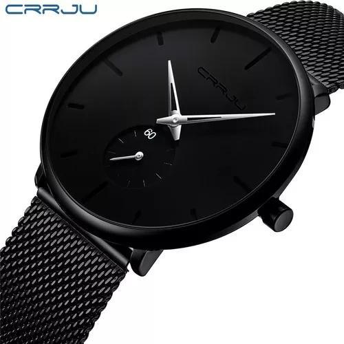 Relógio crrju original luxo ultra fino original varias