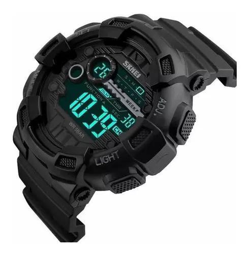 Relógio skmei 1243 preto militar esportivo promoção