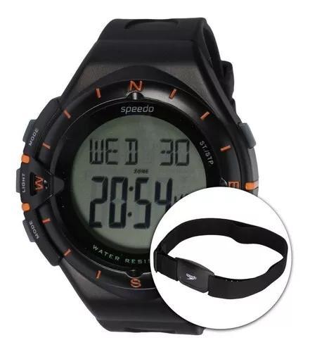 Relógio speedo 58010g0 monitor cardíaco alarme e