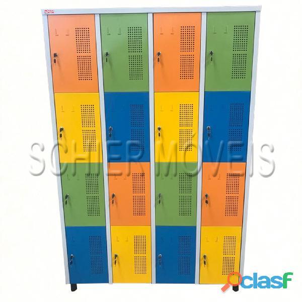 Armário roupeiro 16 portas colorido novo   schier móveis