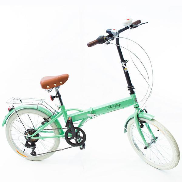Bicicleta dobrável fênix verde