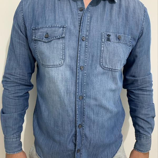 Camisa jeans masculina sérgio k