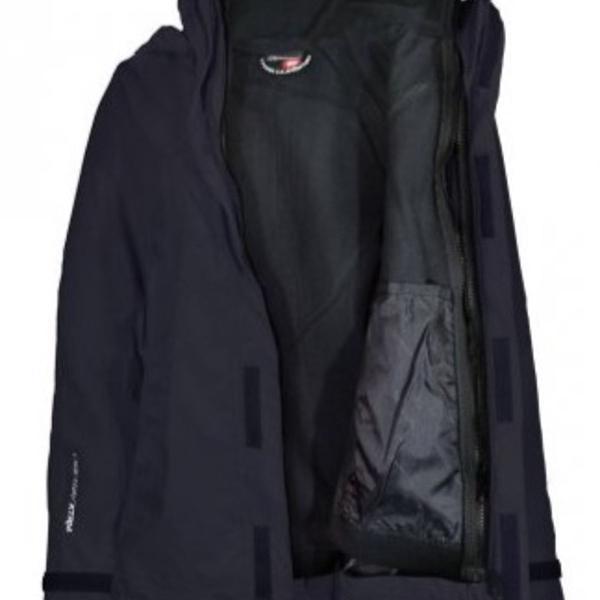 Jaqueta de ski ou snow feminina 3 em 1 impermeável preta