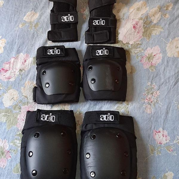 Kit de proteção skate e patins