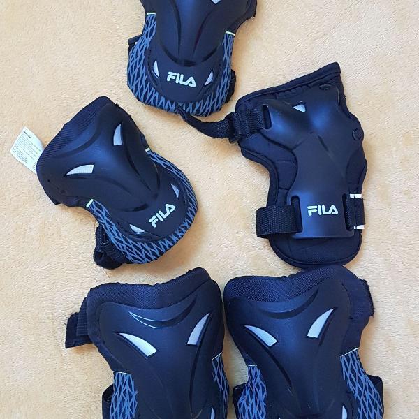 Kit de proteção (joelheira, cotoveleira, protetor mão