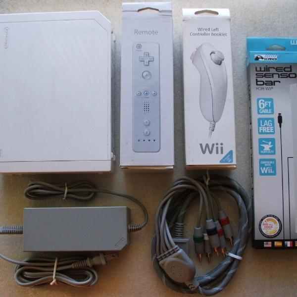 Nintendo wii branco + controle