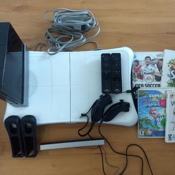 Nintendo wii completo e games grátis!!