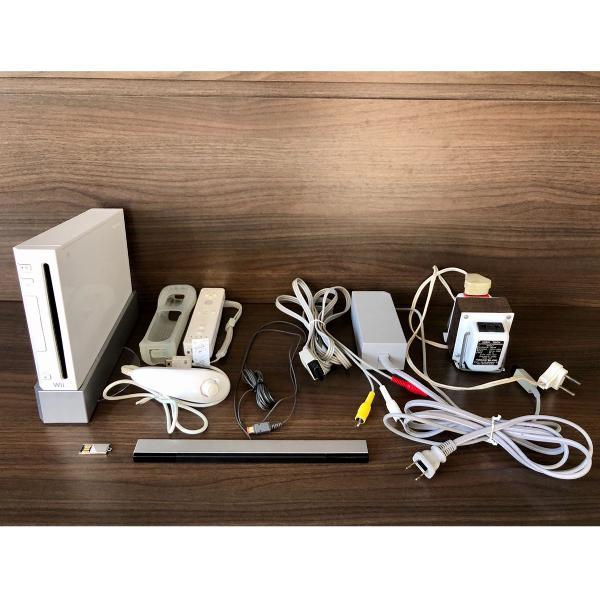 Nintendo wii + controle original c/ case e nunchuck + jogos