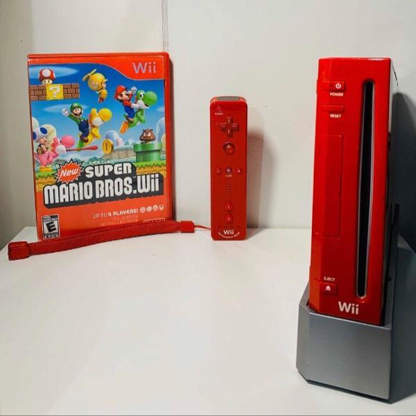 Nintendo wii edição limitada vermelho super mário bros