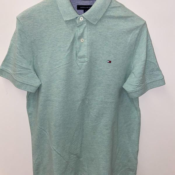 Polo tommy verde claro