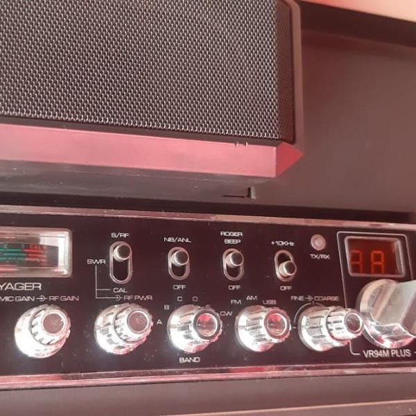 Rádio voyager px vr -94 plus com caixa de som extra+ ptt