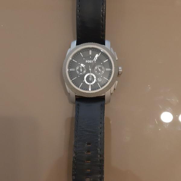 Relógio fóssil ti1003 pulseira em couro