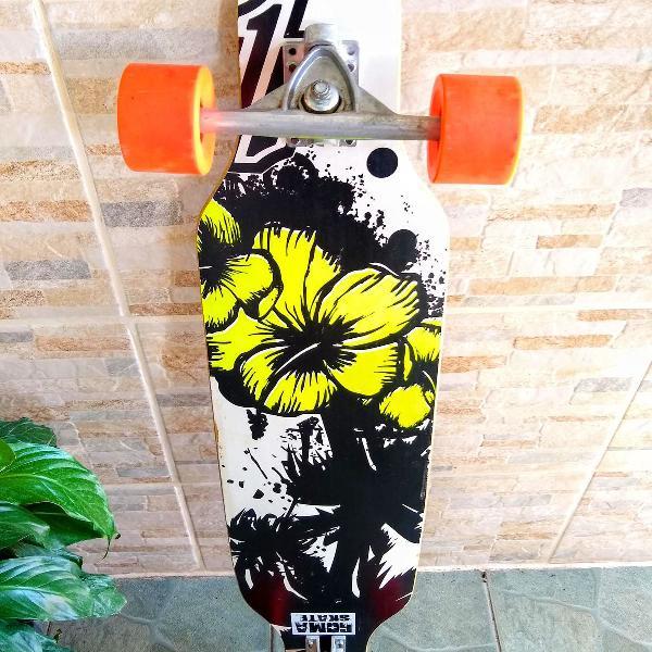 Skate longboard speed montado profissional + presente