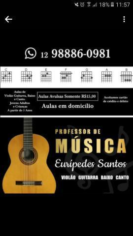 Aulas de violão guitarra baixo e canto