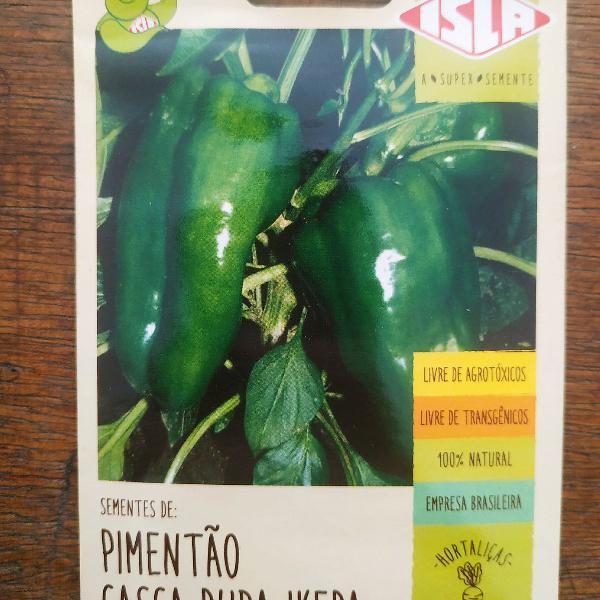Cx. c/ 10 und. semente pimentão