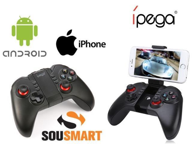 Controle game joystick bluetooth jogar celular ípega 9068