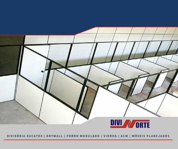 Divisória, drywall, forros, pisos e acm