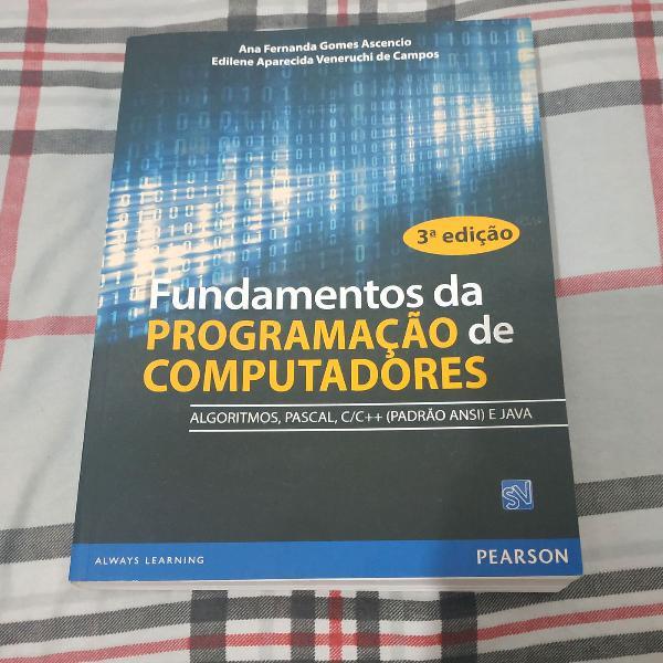 Livro fundamentos da programação de computadores