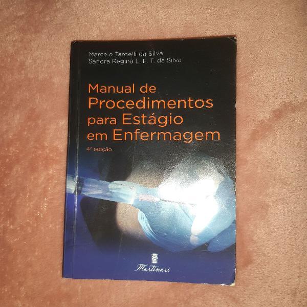 Livro manual de procedimentos para estágio em enfermagem