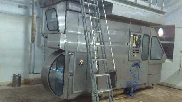 Maquina tetra pak para envase de alimentos.