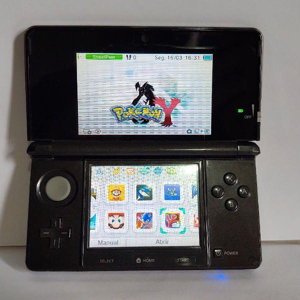 Nintendo 3ds desbloqueado com 32gb