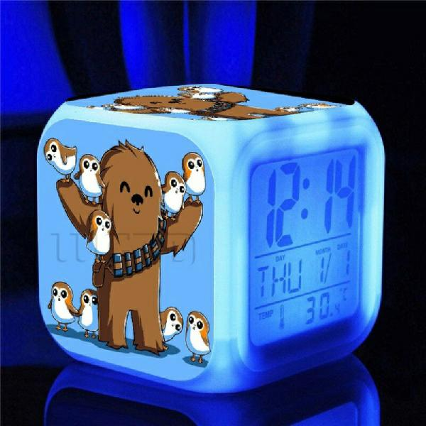 Relógio led star wars