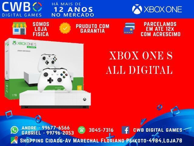 Xbox one s,all digital,novo lacrado e com 1 ano de