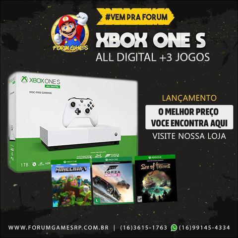 Xbox one s lançamento all digital com três jogos grátis