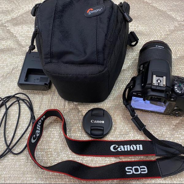 Câmera fotográfica canon eos rebel sl1