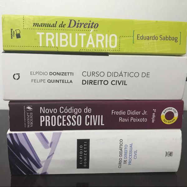 Combo livros jurídicos direito processual civil, civil e