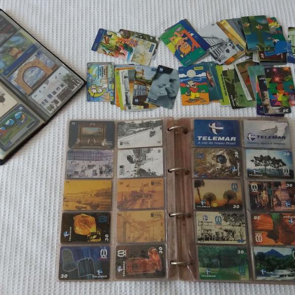 Linda coleção de cartões telefônicos antigos