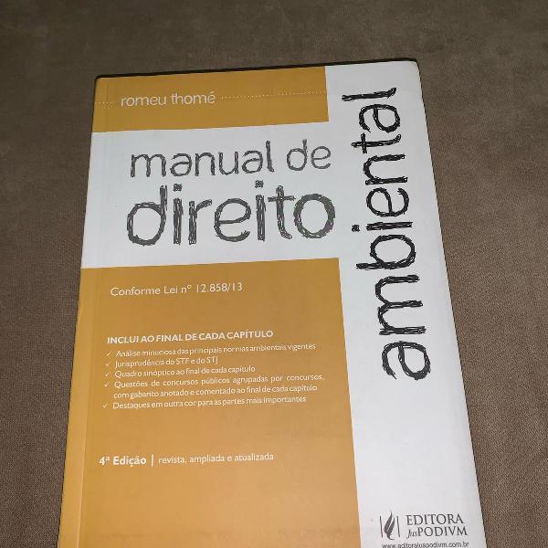Manual de direito ambiental, romeu thomé, 4a edição, 2014
