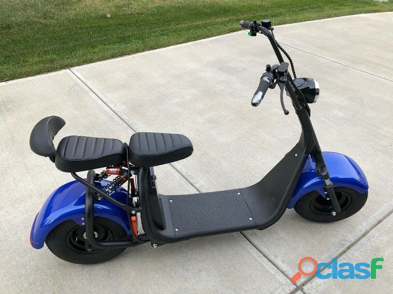Novo citycoco 2000w 60ah pneu gordo elétrico 2 lugares scooter