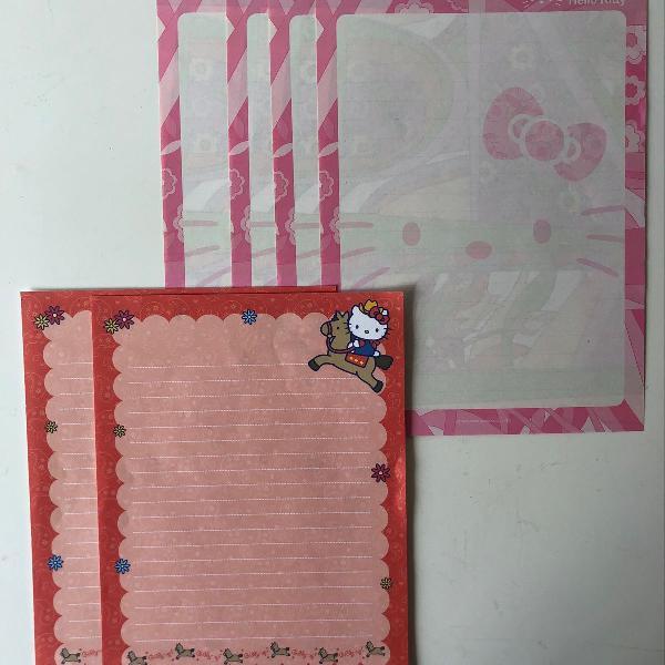 Papéis de carta hello kitty