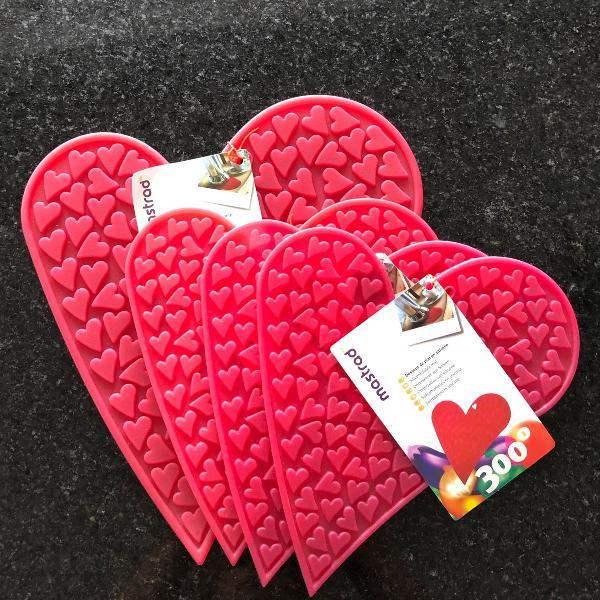 Porta panelas silicone coração novos