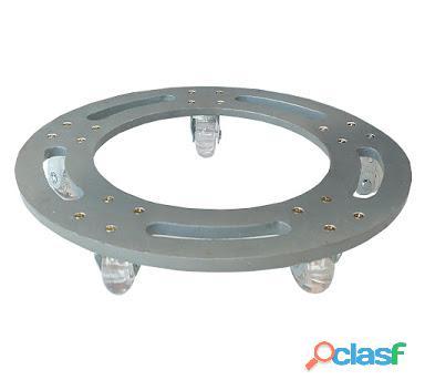 Suporte base de alumínio redondo roda silicone gel 25x25
