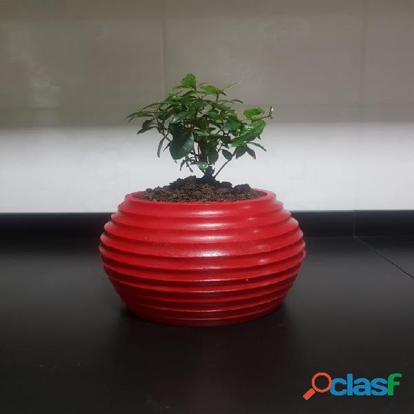 Vaso de planta p/ flores artificiais e naturais 15x20 cm