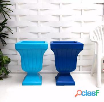 Vaso de planta rustico estilo taça de polietileno 60x42 cm