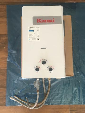 Aquecedor de água rinnai 15l gn - gás natural