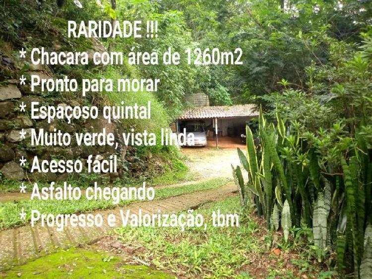 Terreno 1260m² casa 3 drms sala coz amplas varanda