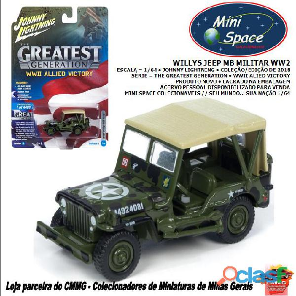 Johnny lightning willys jeep mb militar 1/64