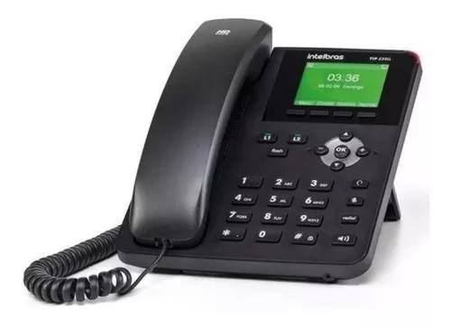 08 x telefone ip tip 235g intelbras 2 contas sip 2.0 giga