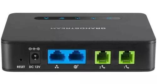 Adaptador ata ht812 2 portas fxs grandstream voip original
