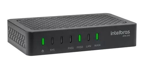 Adaptador ip p/ telefone analógico intelbras ata 200
