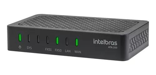 Adaptador ip tel analógico intelbras ata 200