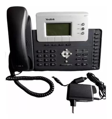 Aparelho telefônico ip yealink t26 voip com fonte